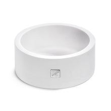Load image into Gallery viewer, Round white dog bowl in Corian material