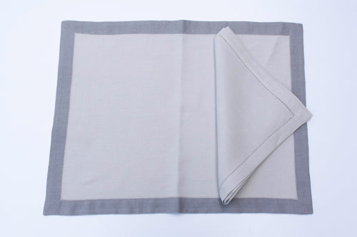 Grey Linen Placemats Set