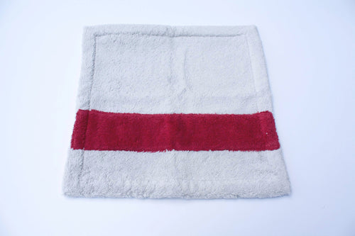Grey and Bordeaux Guest towel