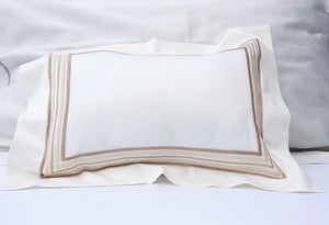 Set of cotton sheets ivory color with 5 lines