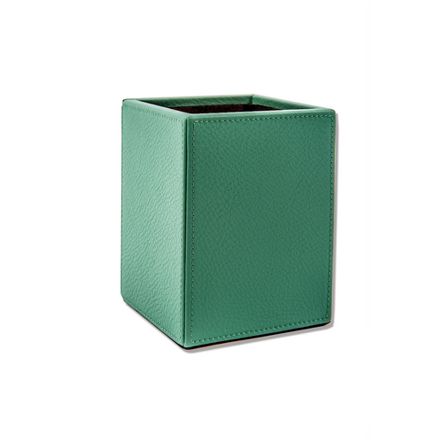 Pencil Holder in Soft Leather - Smeralda