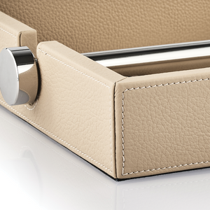 Soft Leather Napkin Case with Inox Bar