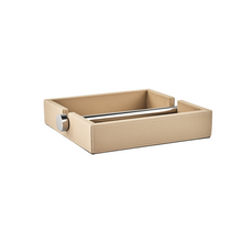 Load image into Gallery viewer, Soft Leather Napkin Case with Inox Bar