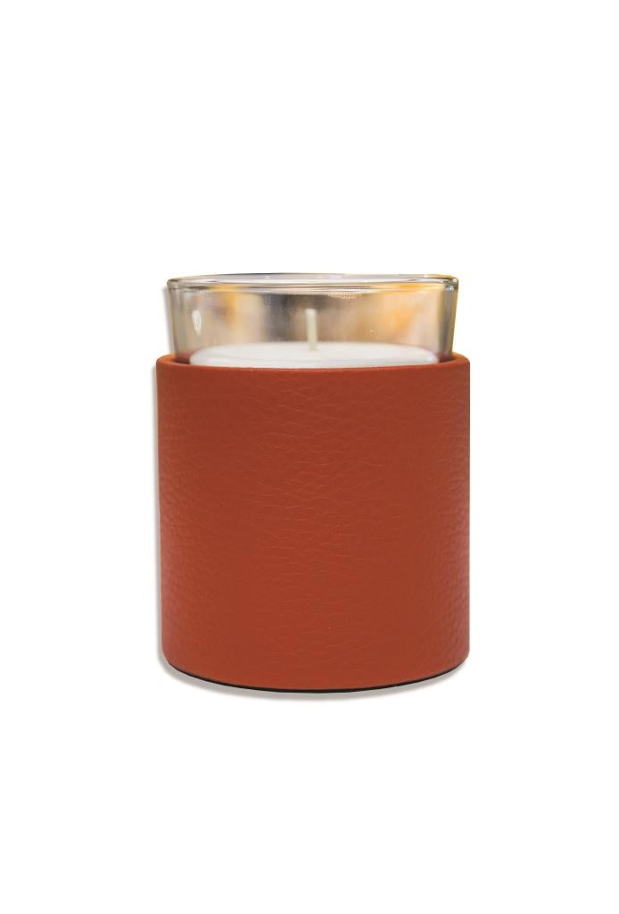 Candle Holder in Soft Leather