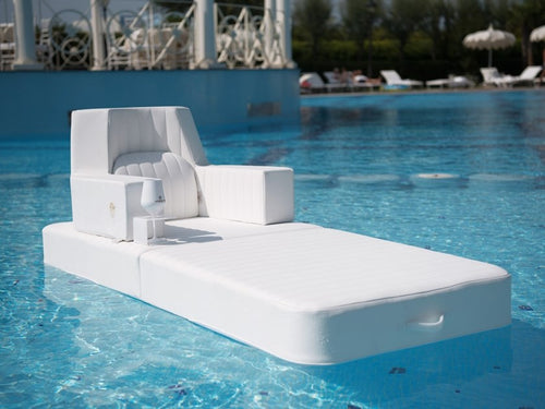 White Floating Armchair in the pool