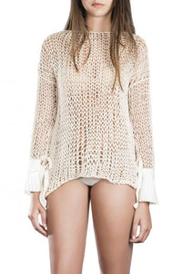 Hand woven cotton sweater Yilda