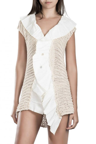 Hand woven cotton vest Wendy