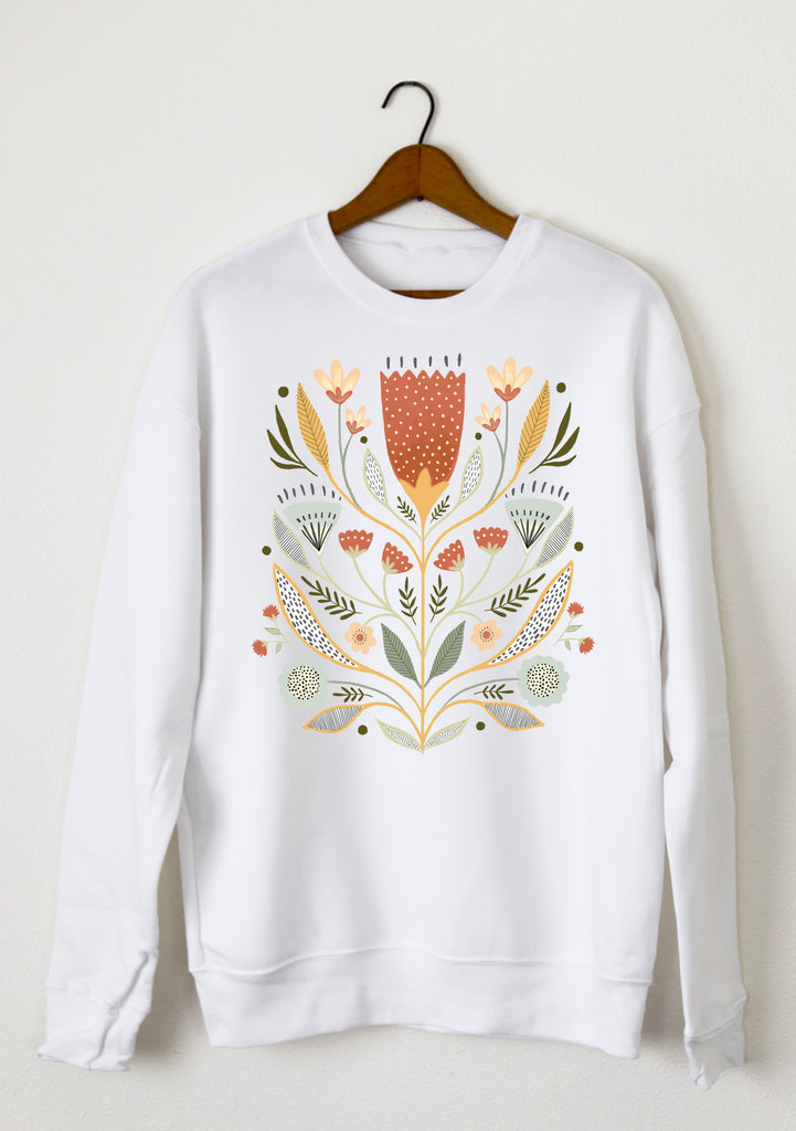 FOLKSY FLOWERS SWEATSHIRT