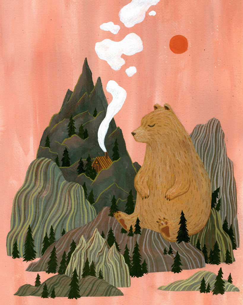 PRINT OF SLEEPY MOUNTAINS