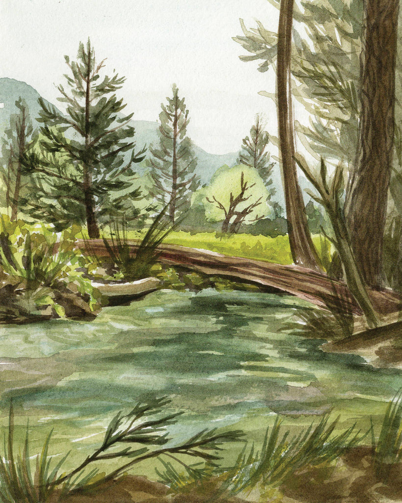 PRINT OF YOSEMITE'S MERCED RIVER