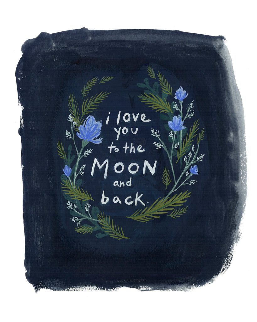 PRINT OF TO THE MOON AND BACK