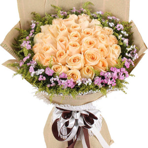 To be with you(33 champagne roses)