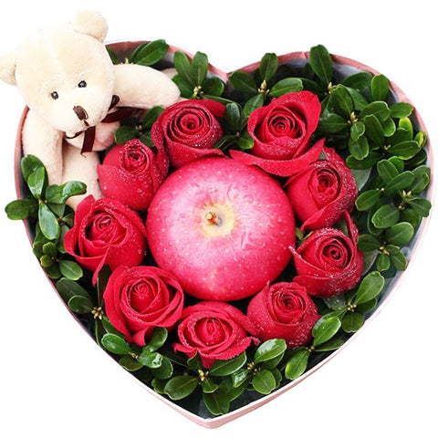 Christmas with you( 9 fine red roses)