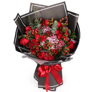 Deep love( 19 fine red roses)