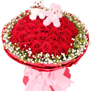 Romantic talk( 99 red roses-