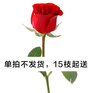 Single red rose (from 15 stems)