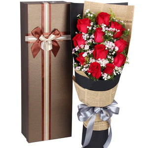 For love( Selection of 11 red roses)