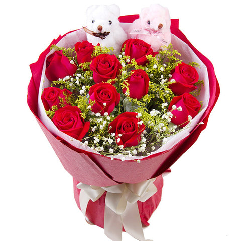 Like you so much(11 red roses)