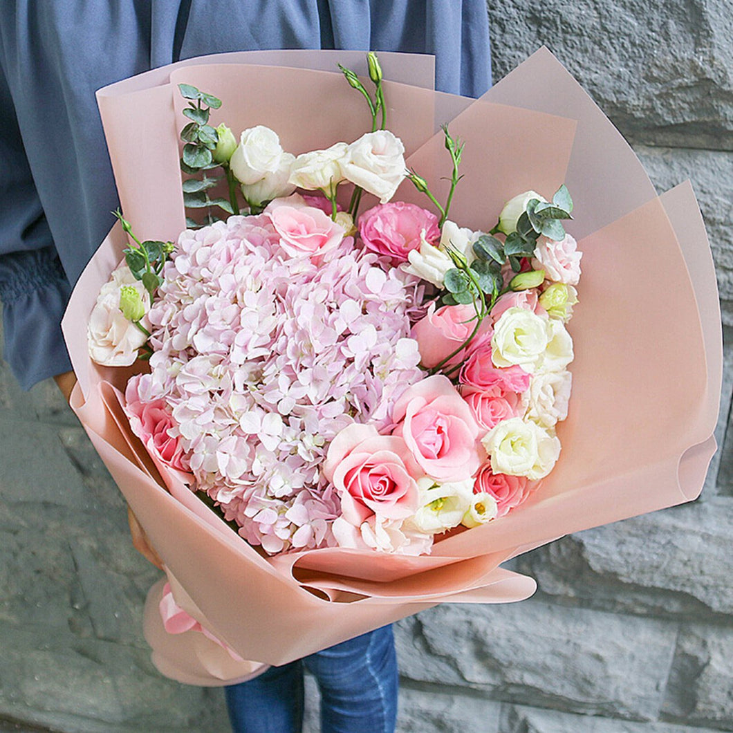 I only love you( 1 pink hydrangea-
