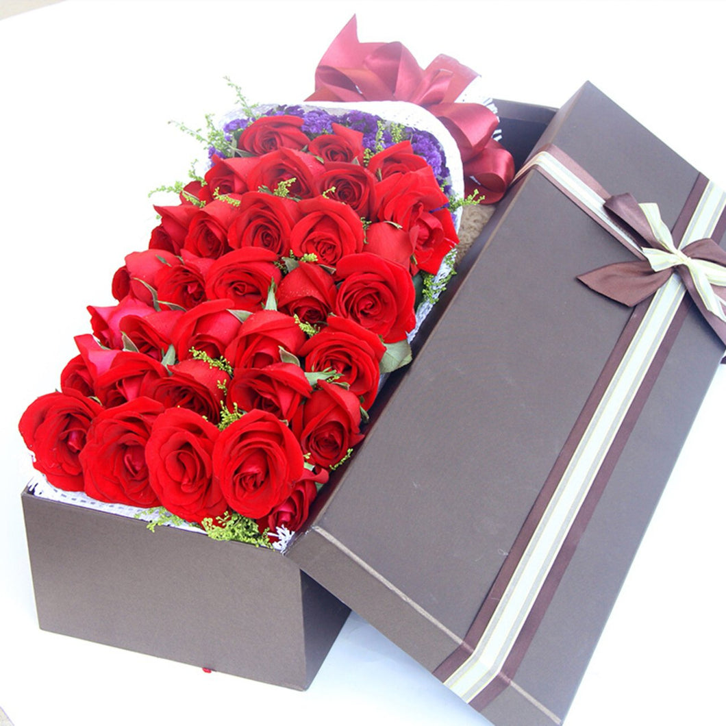 my favourite( 33 red roses and flowers gift box)
