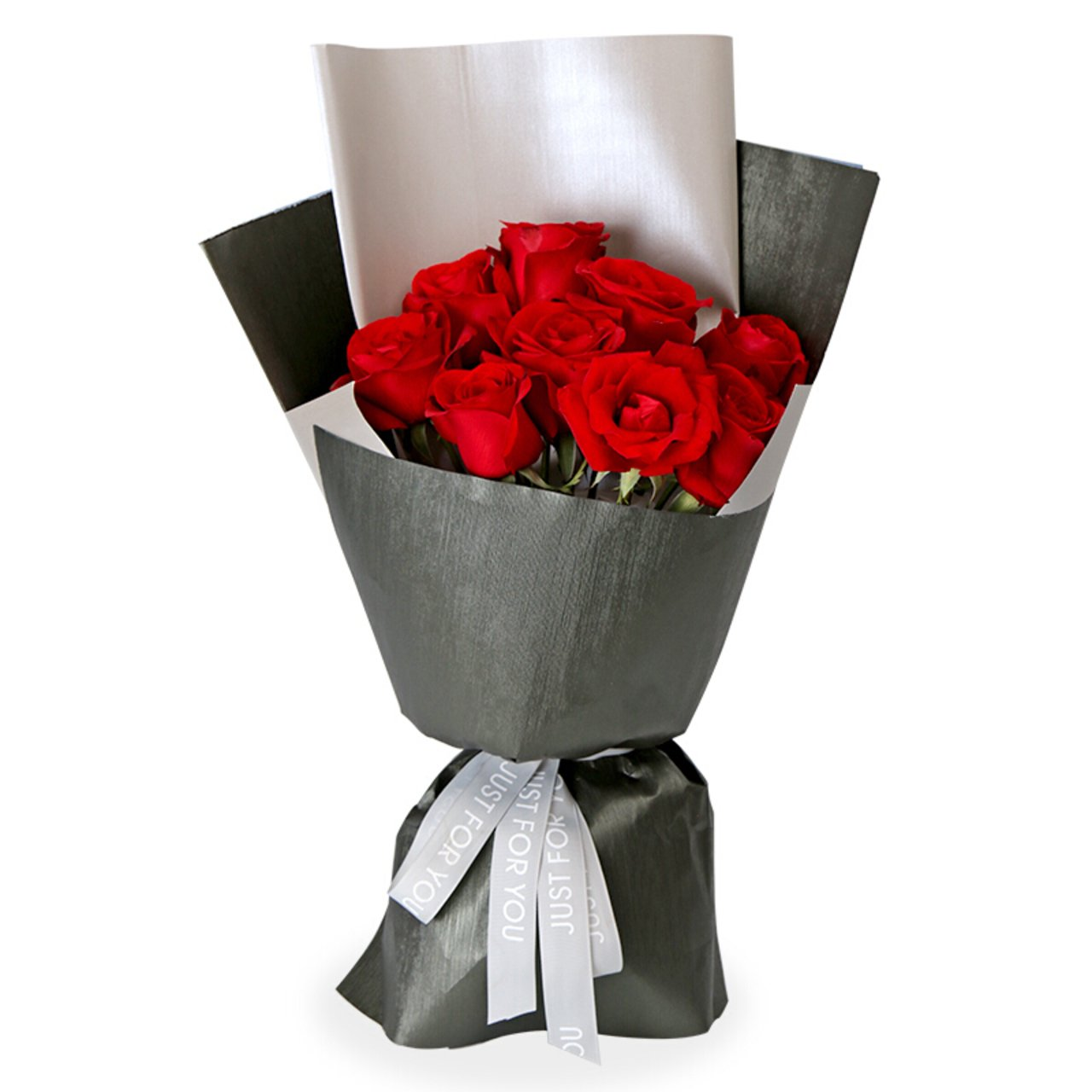 Lasting oath( A selection of 9 high-quality red roses.   -