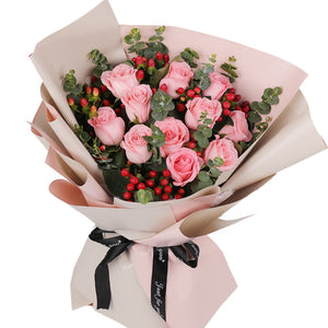 sweetheart( 11 pink roses of Diana-