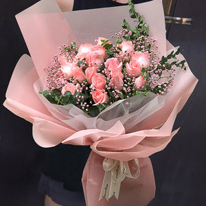 The most beautiful to meet you( 21 Diana Pink Roses-