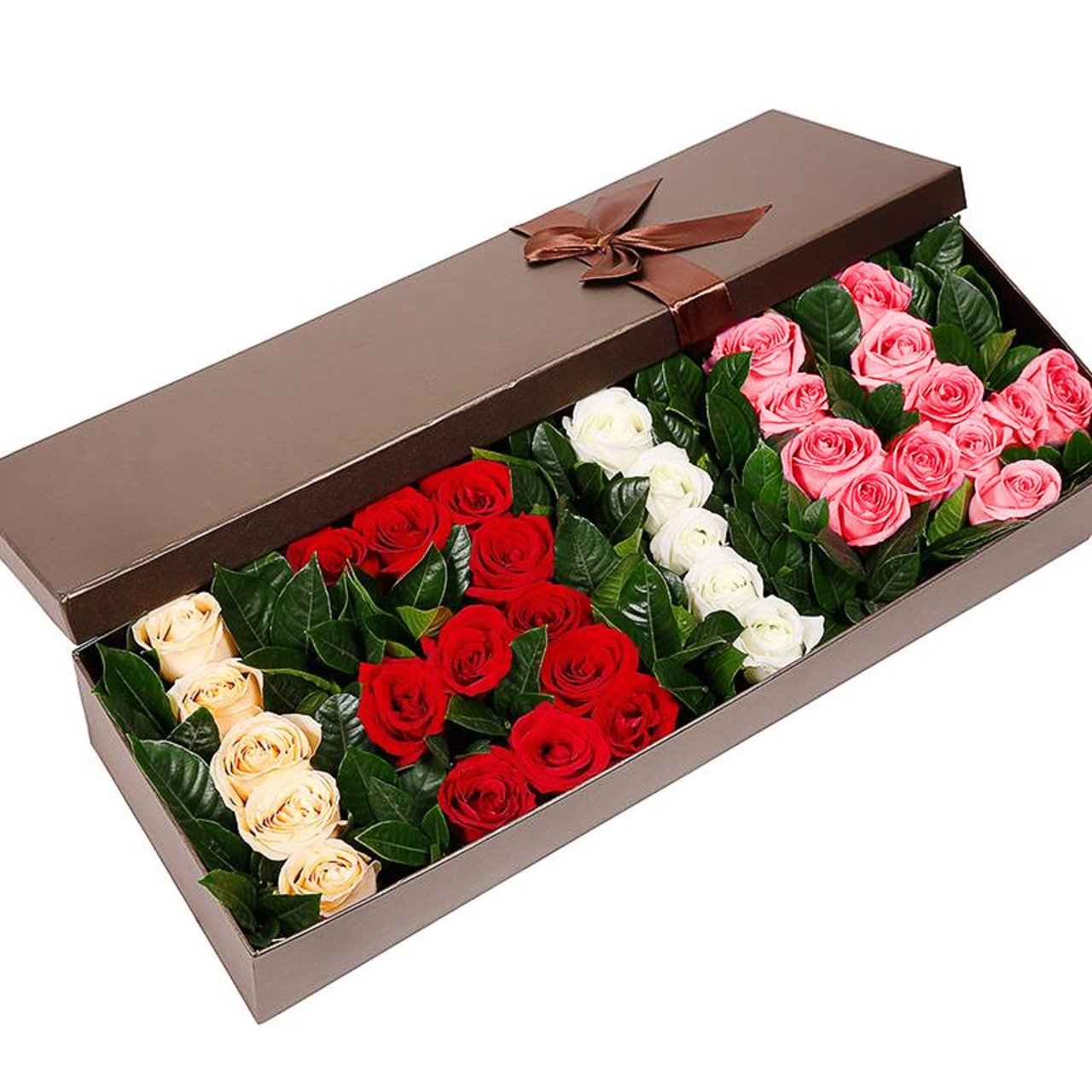 I am happy if you are happy( 36 mixed roses -