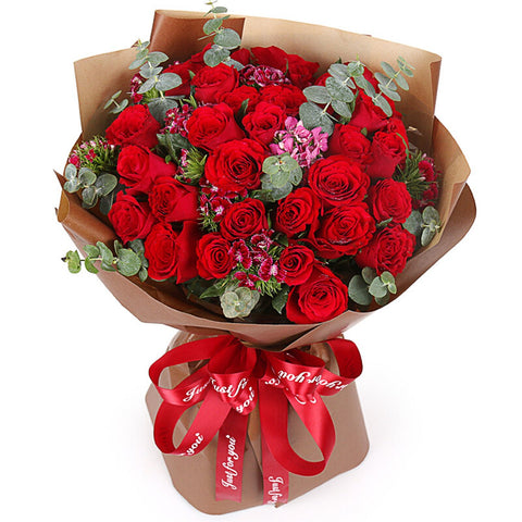 Destined to be with you(33 red roses)