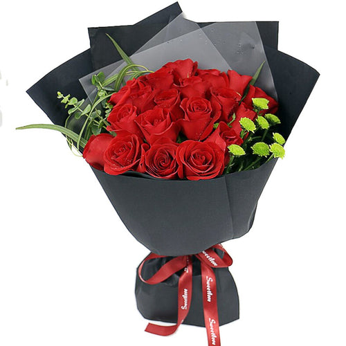 Beautiful date(19 red roses)