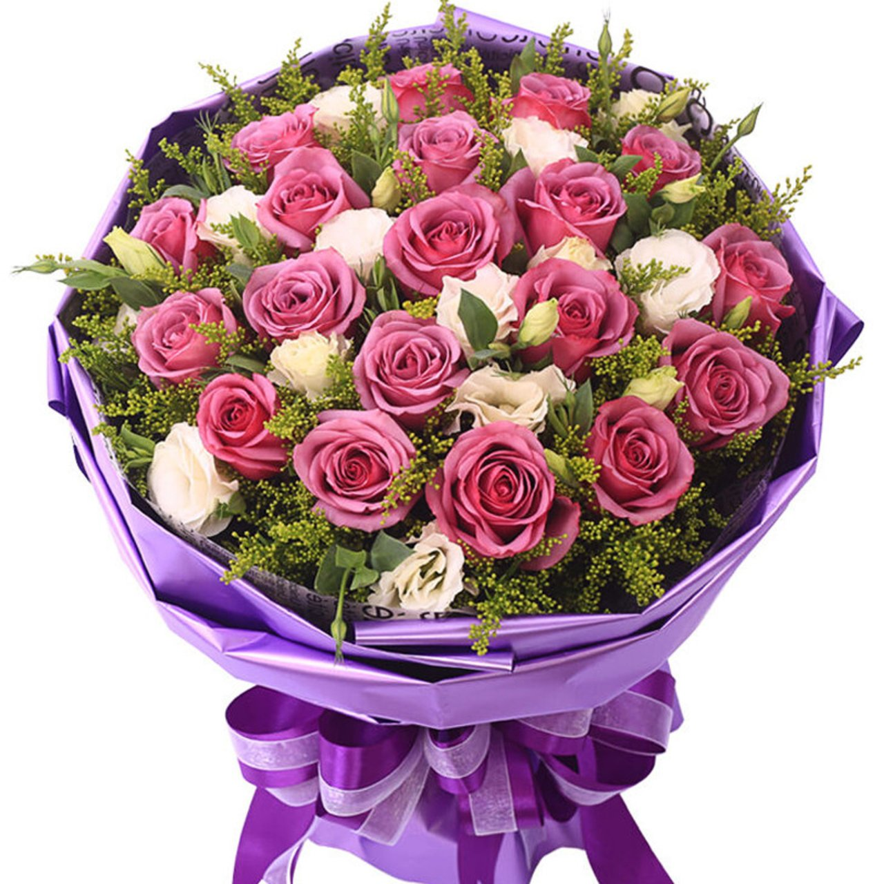 Crazy for you( 19 fine purple roses)
