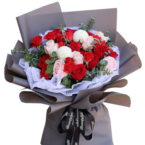 Can not leave you(19 red roses)