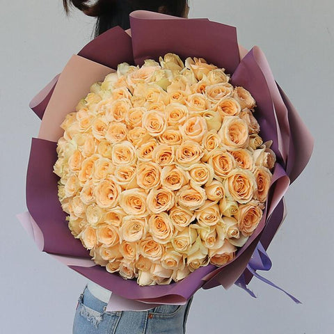 Dream for you( 99 boutique champagne roses   )