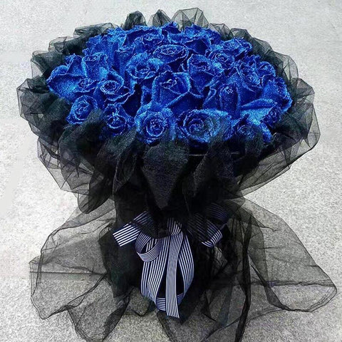 Eternal( 33 blue roses)