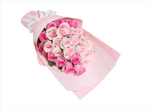 17 pink lady pink rose, 12 pale pink rose to China