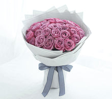 Load image into Gallery viewer, 33/50/99 beautiful cold purple Roses to China