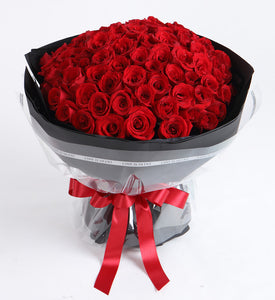 99 Red Rose Bouquet to China