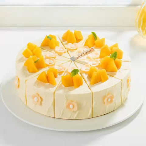 8 inches New Mango chocolate Cake (Sunny Shine)