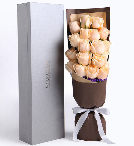 19 champagne roses to HongKong or Macau (price in usd)