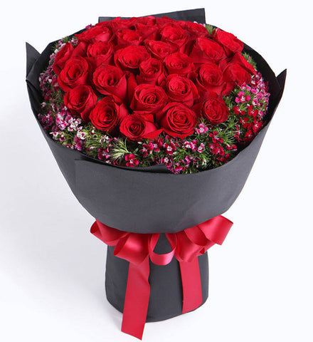33 red roses to HongKong or Macau