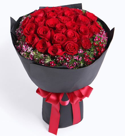 Romantic Red Roses x 33 Bouquet