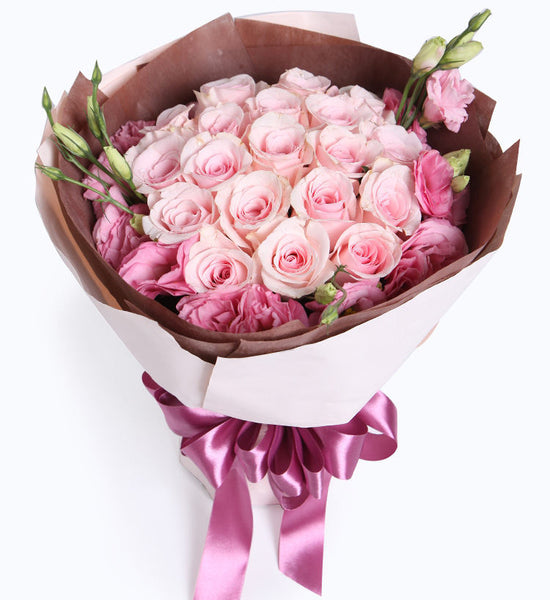 19 pink roses to HongKong or Macau