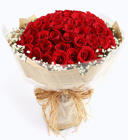 66 red roses to HongKong or Macau