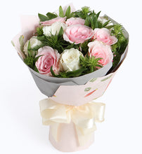 Load image into Gallery viewer, 6 Pink lady pink rose and 6 white rose to China