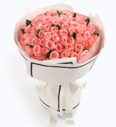 99 pink roses to HongKong or Macau