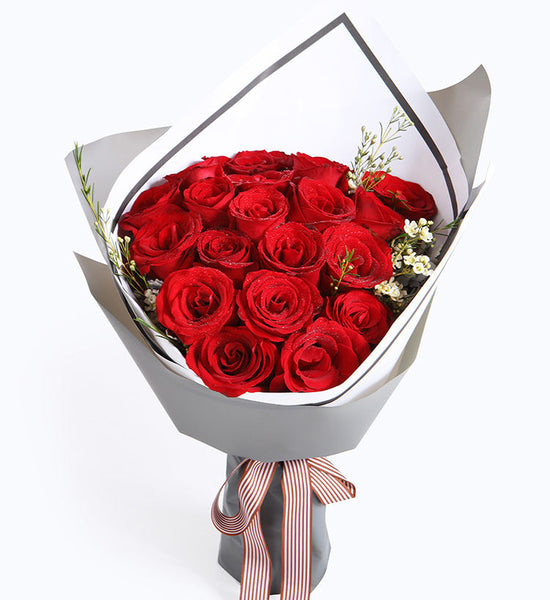 19 red roses to HongKong or Macau