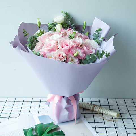 9 Pink lady Roses to China