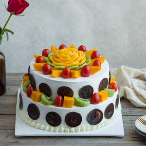 6 Pounds Rose Fruit Cake To China