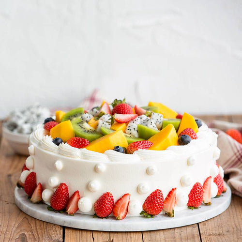 Round Birthday Fruit Cake to China
