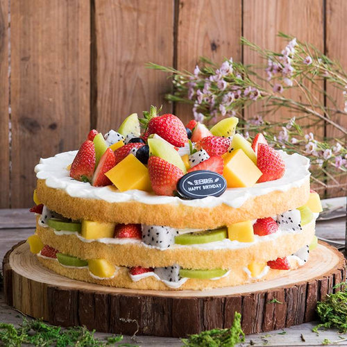 Three Layers Fruit Cake To China